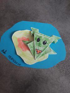 """Aéla 18/03/2020, """"Origami grenouille sauteuse"""""""