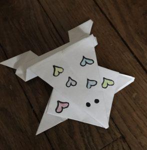 """Pauline 21/03/2020, """"Origami grenouille sauteuse"""""""